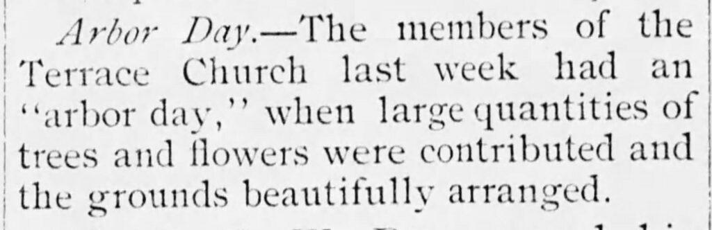 Arbor Day-Terrace Church_Facts, 03-27-1891