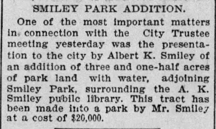 Smiley Park_LA Times, 04-21-1900