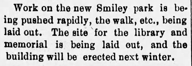 Smiley Park_Redlands Facts, 05-05-1897